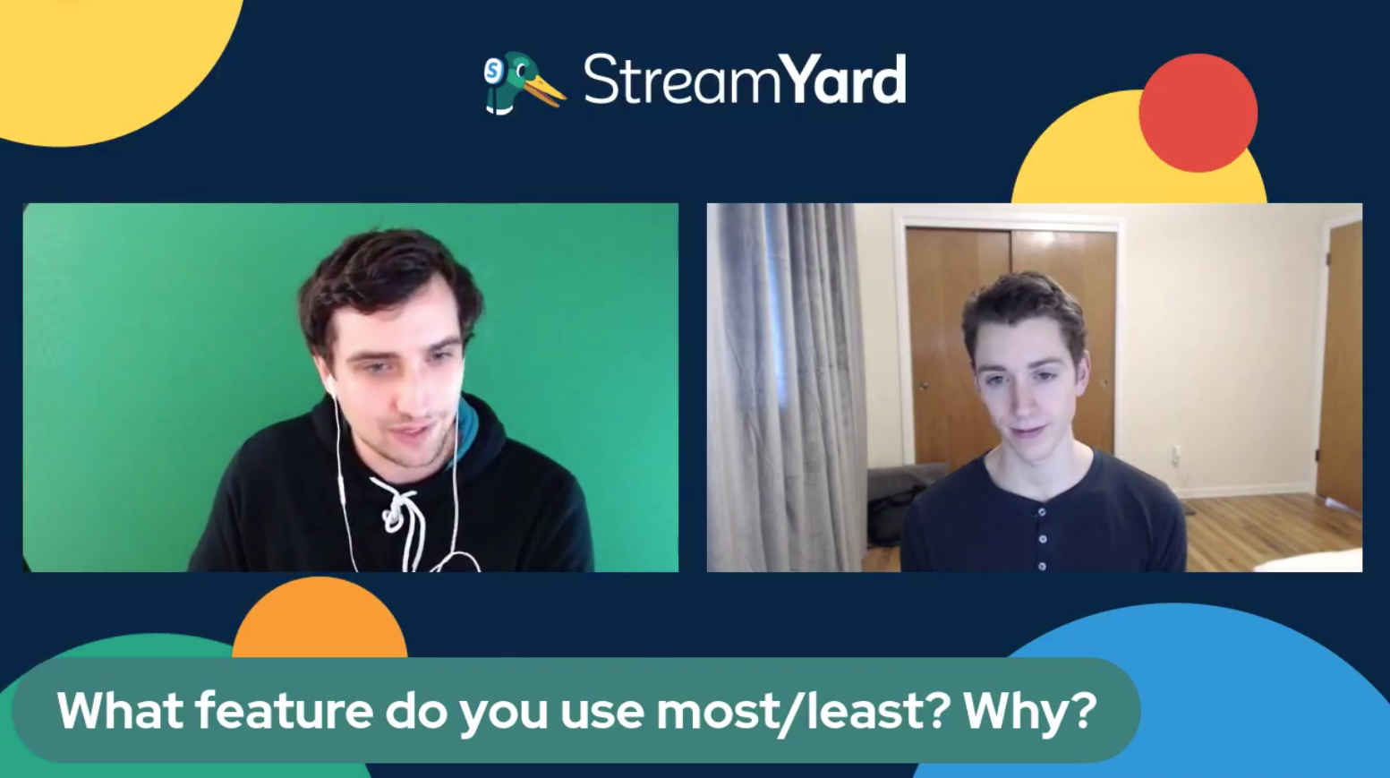 11 What are you most and least used features of Streamyard - Streamyard Town Hall 116