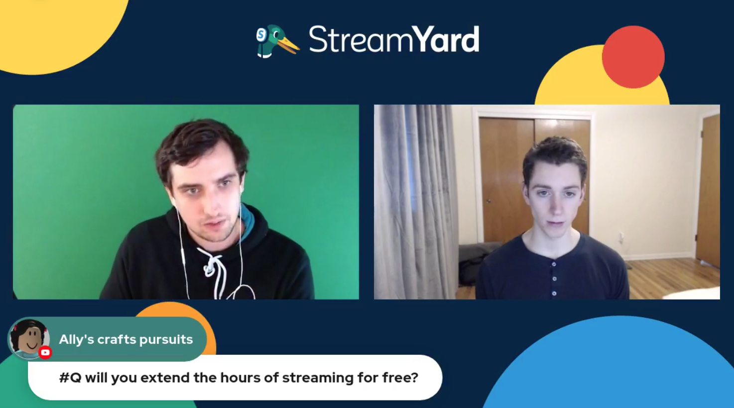 15 Extend Hours Of Streaming For Free - Streamyard Town Hall 116