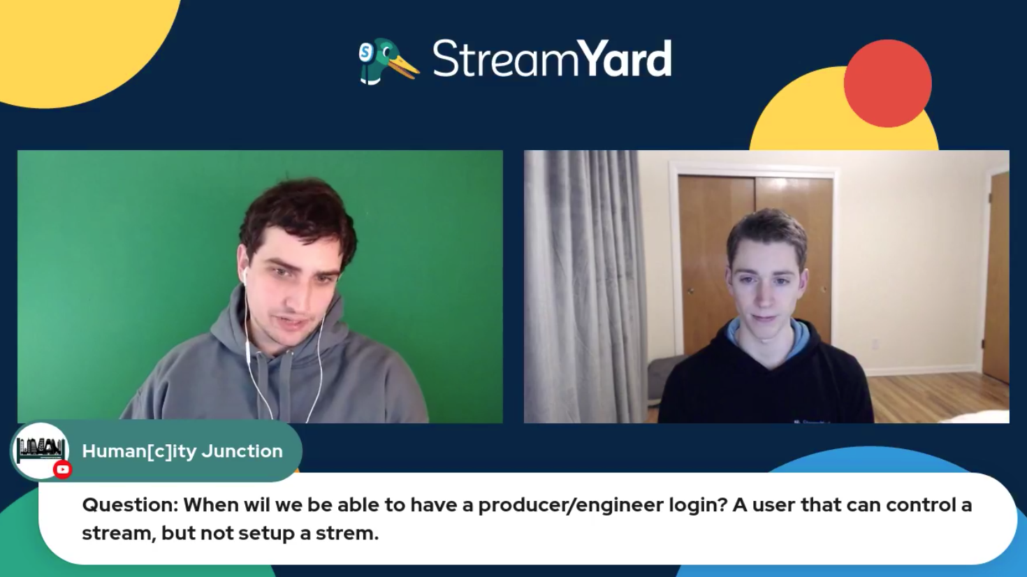 15 - Producer Engineer Access Streamyard Town Hall Episode 113