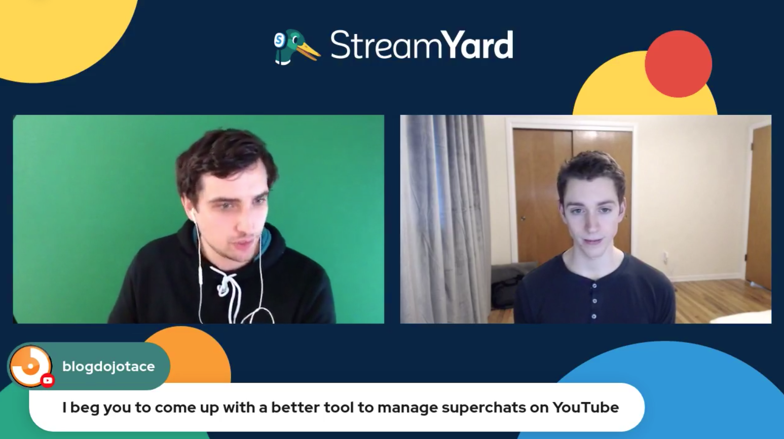 17 Youtube Superchats - Streamyard Town Hall 116