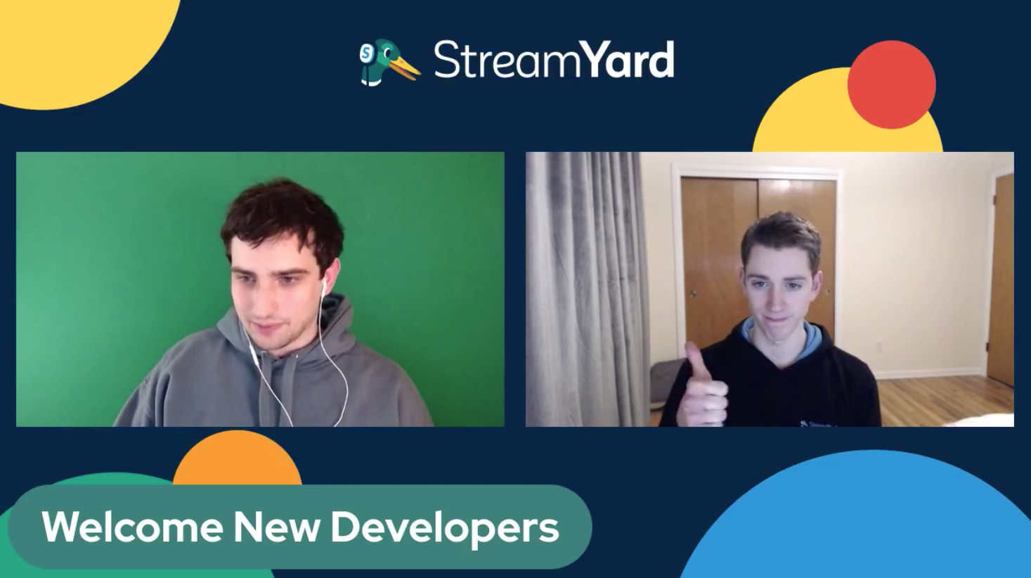 Two New Developers - Alex & Dave Streamyard Town Hall Episode 113