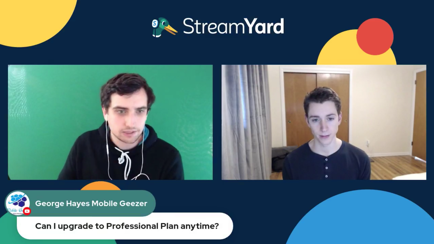 7 Can I Upgrade To Pro Anytime - Streamyard Town Hall 116