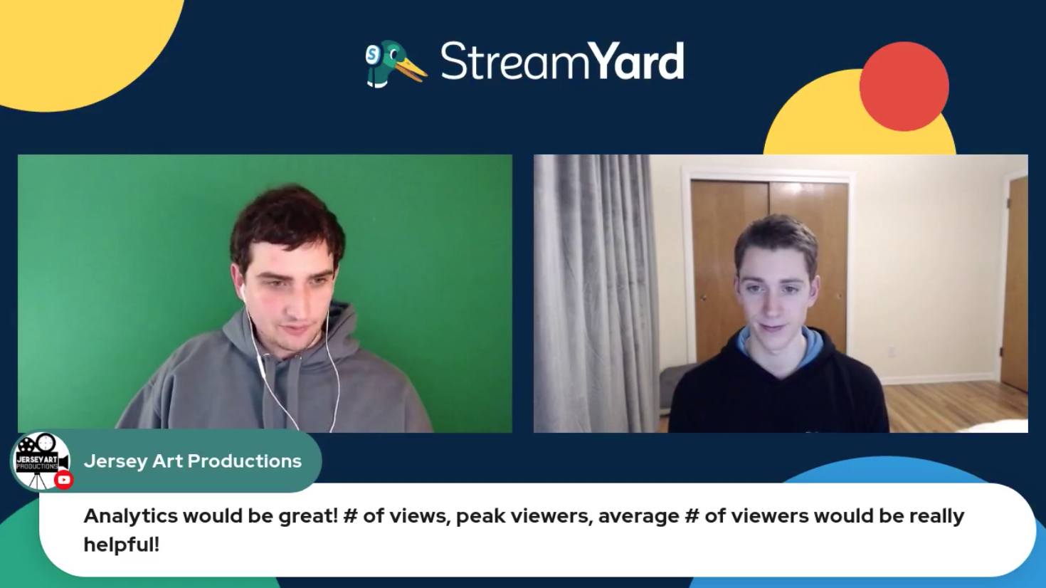 Analtics Would Be Good Streamyard Town Hall Episode 113