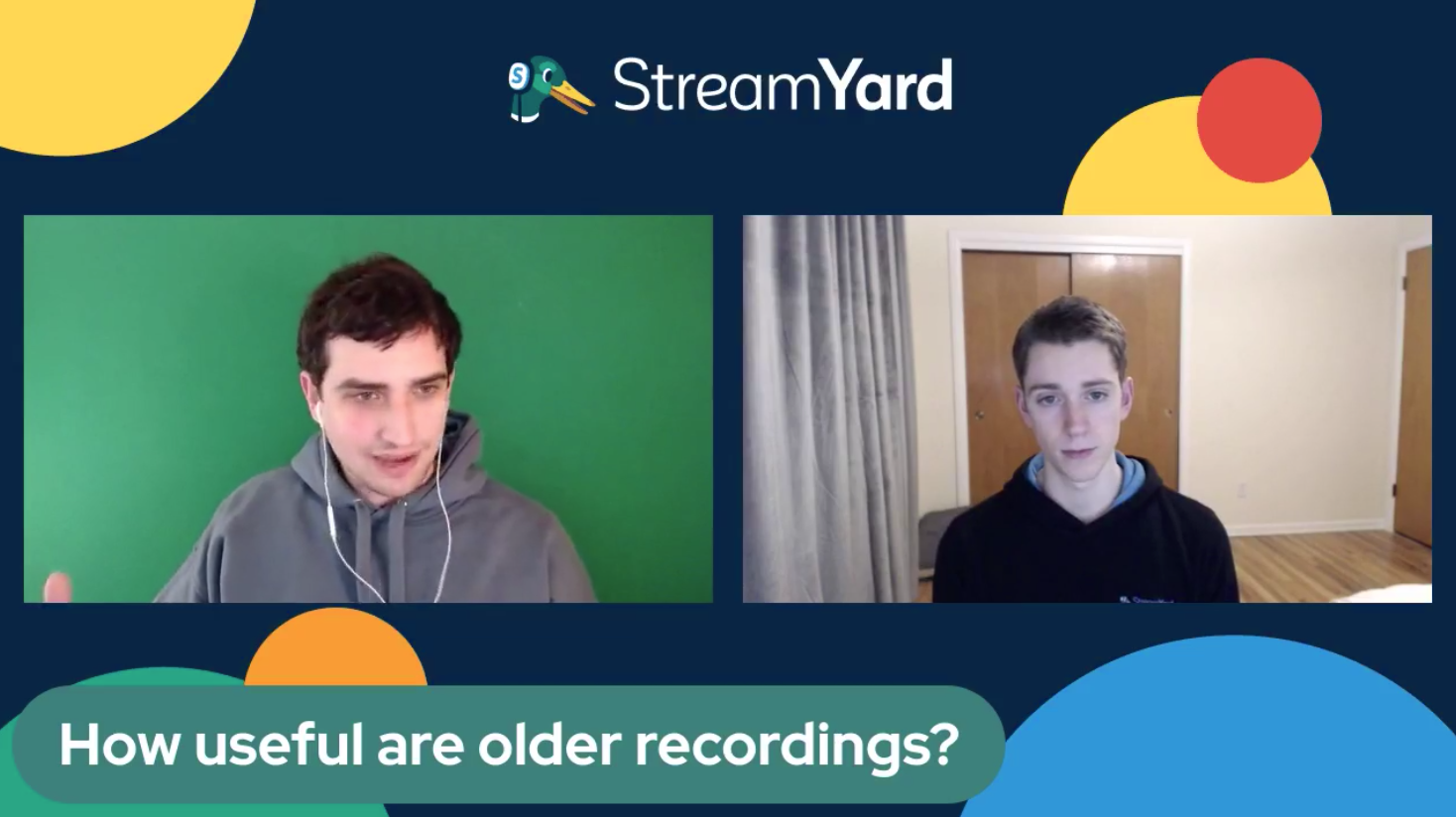 How Useful Are Older Recordings Streamyard Town Hall Episode 113