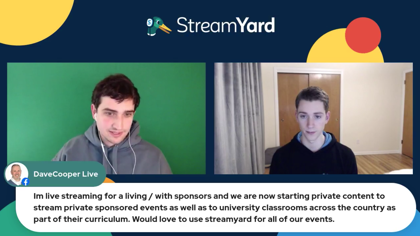 Livestreaming With Sponsors Streamyard Town Hall Episode 113
