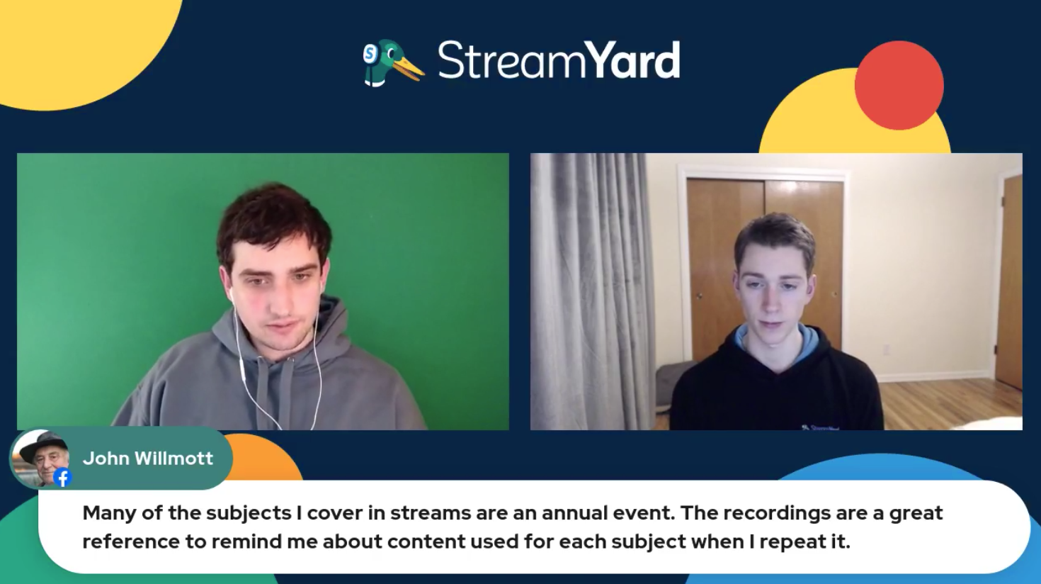 Streaming Annual Event Streamyard Town Hall Episode 113