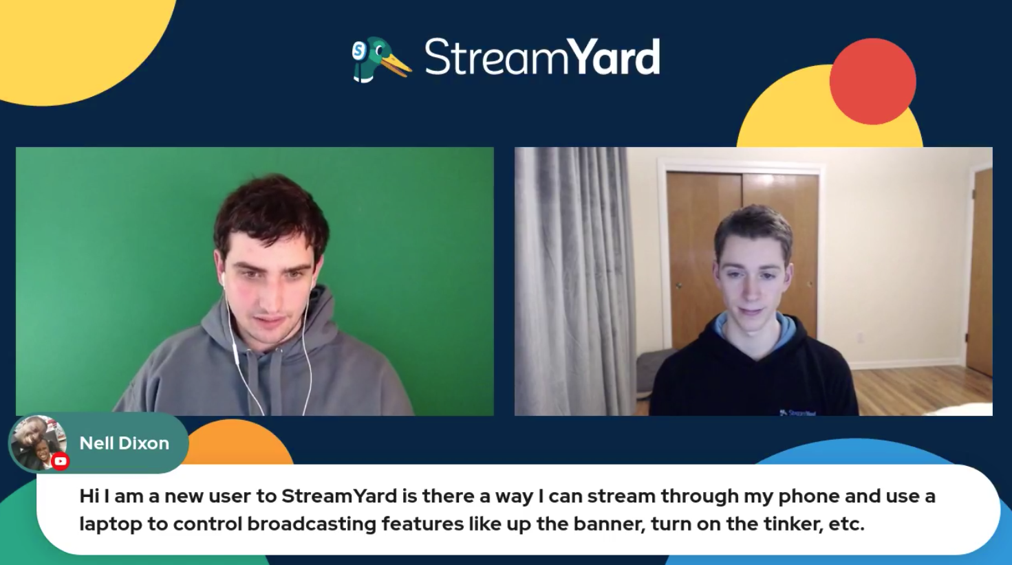Streaming Through Phone & Produce From Laptop Streamyard Town Hall Episode 113