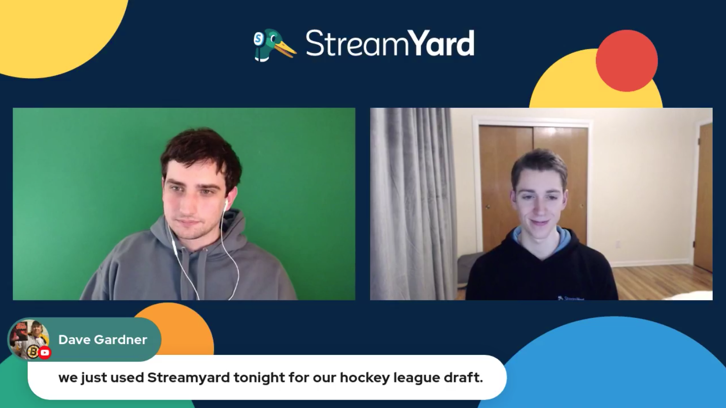Streamyard Used For hocley Draft Streamyard Town Hall Episode 113